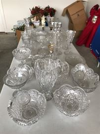 Crystal serving pieces