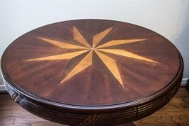 Inlaid Game/Breakfast Pedestal Table.  $225.00