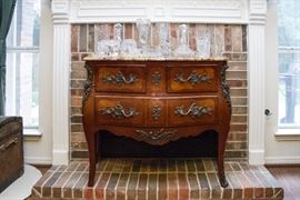 "Marble Top French Commode:  $750 (31""h x 45""w x 20""d)  Incredible Piece!"