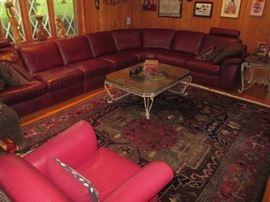 4 piece Natuzzi sectional leather sofa
