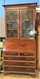 Mahogany Slant Front Secretary Bookcase ca. 1810