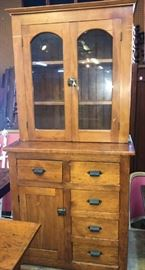 Primitive  Pine Cabinet ca. 1880