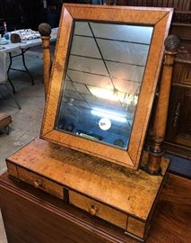 Gentlemans Mirror Birds Eye Maple ca. 1870