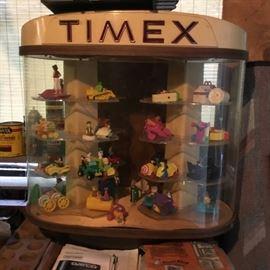 MCDONALDS TOYS, TIMEX DISPLAY CASE