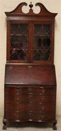 Chippendale bookcase top secretary