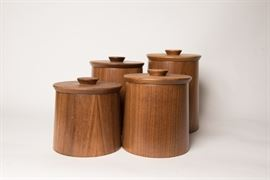 Mid Century Gladmark Wood Canisters