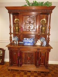 Exquisite Antique walnut hutch
