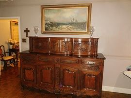 Antique 2-piece  sideboard