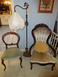 Two of many antique chairs
