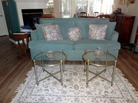 Sofa Sleeper $150.00, Set of Round Tables $95.00