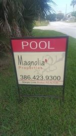Sign in front of property.  Thank You Margie Lints for thinking of Sweet Memories Estate Sales!