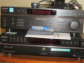 Sony Receiver and Song CD player