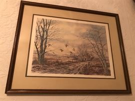 One of many pieces of beautiful bird art. From prints to paintings. The house is filled with great art.