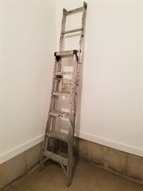 Double rung extension ladder