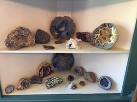 Nice collection of geodes, fossils and  minerals.  More available!