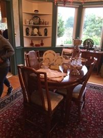 Century Dining Table with 6 chairs