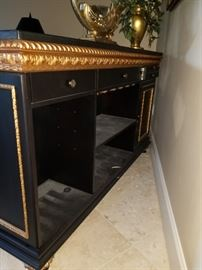 Back view of the Console/Bar piece!  Amazing storage options!  ****THIS PIECE IS AVALIABLE FOR PRESALE**** Please contact us.