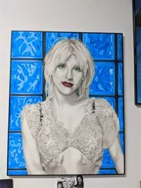 Courtney Love Original Airbrush Painting by Ron Shuey