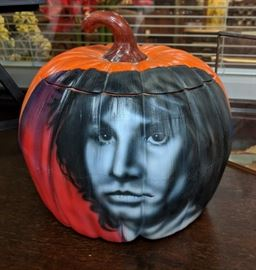 Jim Morrison on Ceramic Pumpkin by Ron Shuey