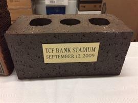Brick From TCF Stadium at the University of Minnesota.