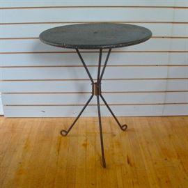 Midcentury Modern Petite Metal Patio Tripod Table