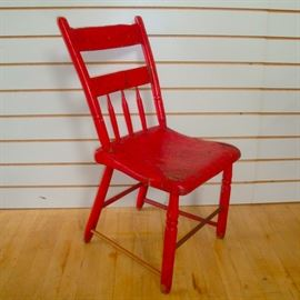 Primitive Handmade Plank Seat Chair