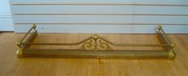Quality Brass Fireplace Hearth Fender