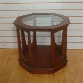 Mid-century Modern Walnut Octagonal Side Table