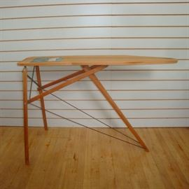 Pristine Wood and Steel Folding Ironing Board