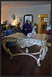 Gorgeous Designer Solid Wood Hand Carved Foyer Table