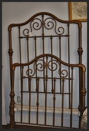 Copper Antique Twin Bed Frame
