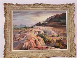Western vintage landscape painting