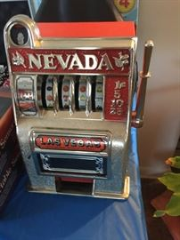 Vintage Las Vegas Casino metal slot machine mini