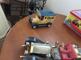 Vintage car collectibles, made in Japan