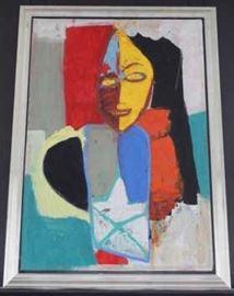 "Jamali Fine Art - ""Dream Prophet"" - Pigmentation on Cork - 55'' x 79''"