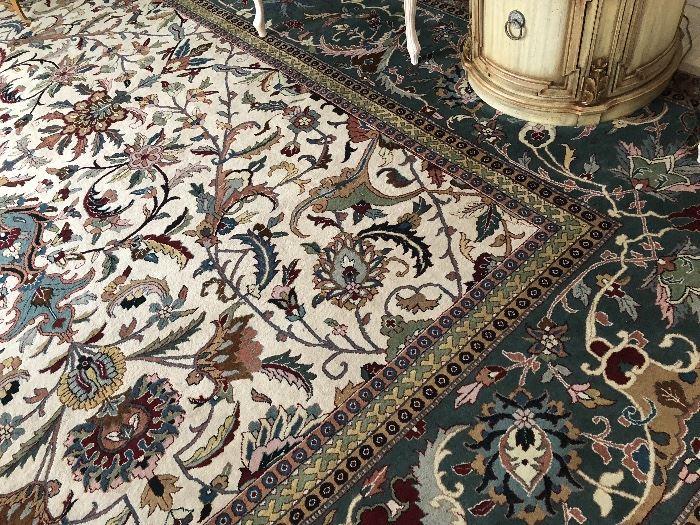 Kandahar Jaipur wood hand knotted 12'x15 area rug