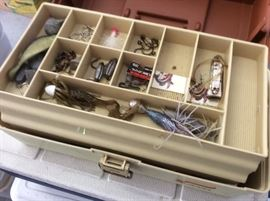 Inside tackle box