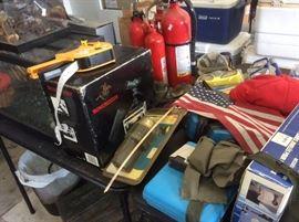 Garage items, fire extinguisher