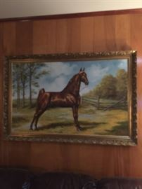 BILLIE NIPPER  OIL ON CANVAS  VERY LARGE.