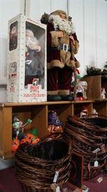 Santa, baskets