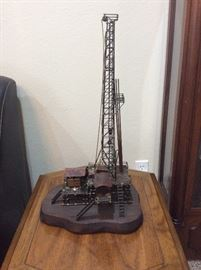 Metal model of oil drilling rig (collectible)