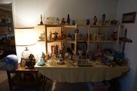 glassware, lamps