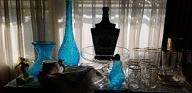 turquoise items  --  glassware  --  great pieces!
