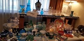 lots of turquoise pieces including a great set of FRANSCICAN WARE. SO MANY WONDERFUL THINGS TO CHOOSE FROM.