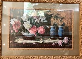 Lots of decorative items. Large well framed