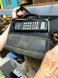 Vintage audio box car phone