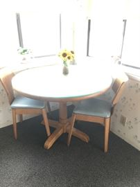 Kitchen Table - (2) Mid Century Chairs (priced separately)
