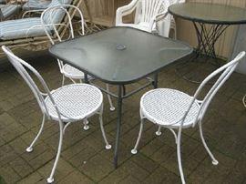 Woodard chairs,  Woodard tables