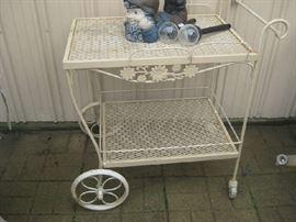 Woodard serving cart