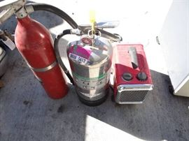 3 Fire Extinguisher and Honeywell Heater